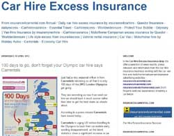 Cheapest Car Hire Excess Insurance Uk