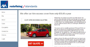 Car Hire Excess Insurance Uk Axa