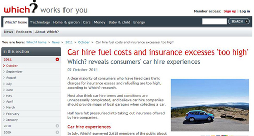 Holiday Car Rental Excess Insurance